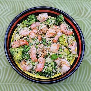 Taboulé vert aux crevettes