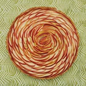 Grande tarte pommes & amandes