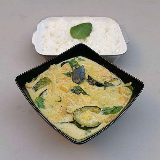 Curry vert thaï au poulet