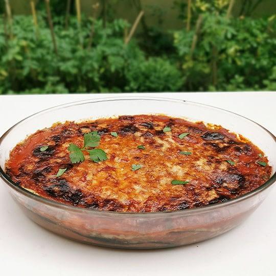 Gratin d'aubergines à la mozzarella