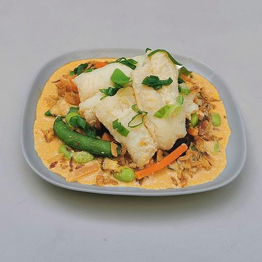 Curry de cabillaud au tahini